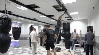 Налаштування рейкової системи для боксерських мішків в м.Івано-франковську | Boyko-Sport Ukraine