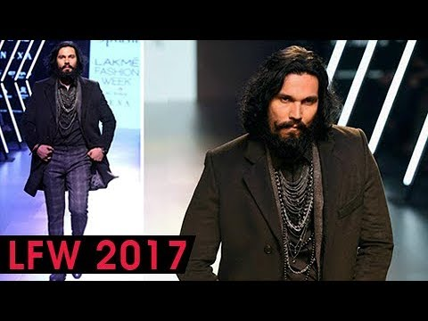 Randeep Hooda In A NEVER SEEN BEFORE Look, Rampwalk At Lakme Fashion Week 2017