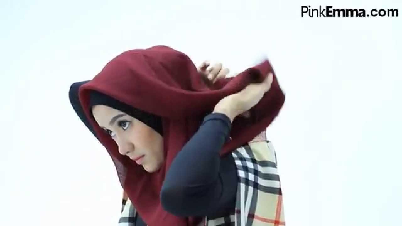 Tutorial Hijab Segi Empat Untuk Lebaran - YouTube