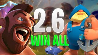 HOG 2.6 WIN EVERY DECKS - CLASH ROYALE