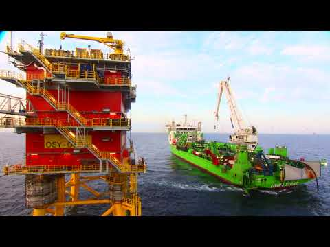 Modular Offshore Grid (MOG) Pull in of the cable in July 2019