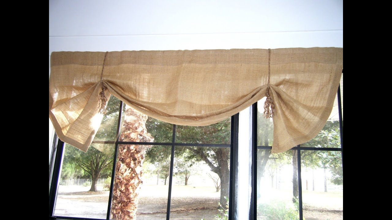 Burlap window treatments - Burlap Window Treatments 23