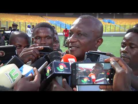 BLACK STARS COACH KWESI APPIAH ADDRESSES MEDIA AT TEAM TRAINING