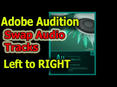 Adobe Audition how to flip swap audio tracks left and right