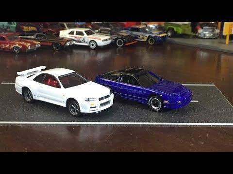 Cracking Open DLM - Johnny Lightning JDM Nissan Skyline & 240SX