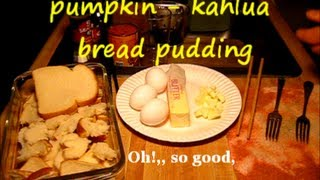 How To Make Pumpkin Bread Pudding / Easy Homemade Recipe