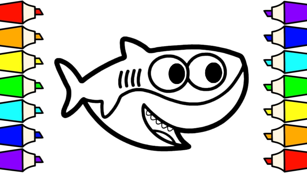 Baby Shark Coloring and Drawing For Kids