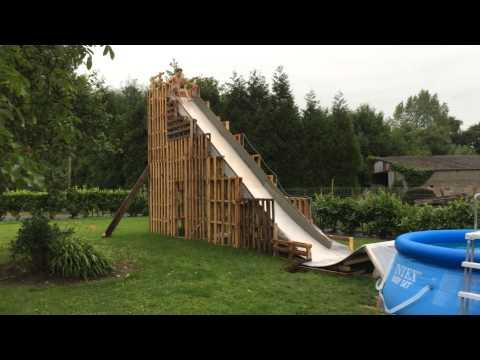 Adam Gubernath - Homemade Water Slide - FAIL!!