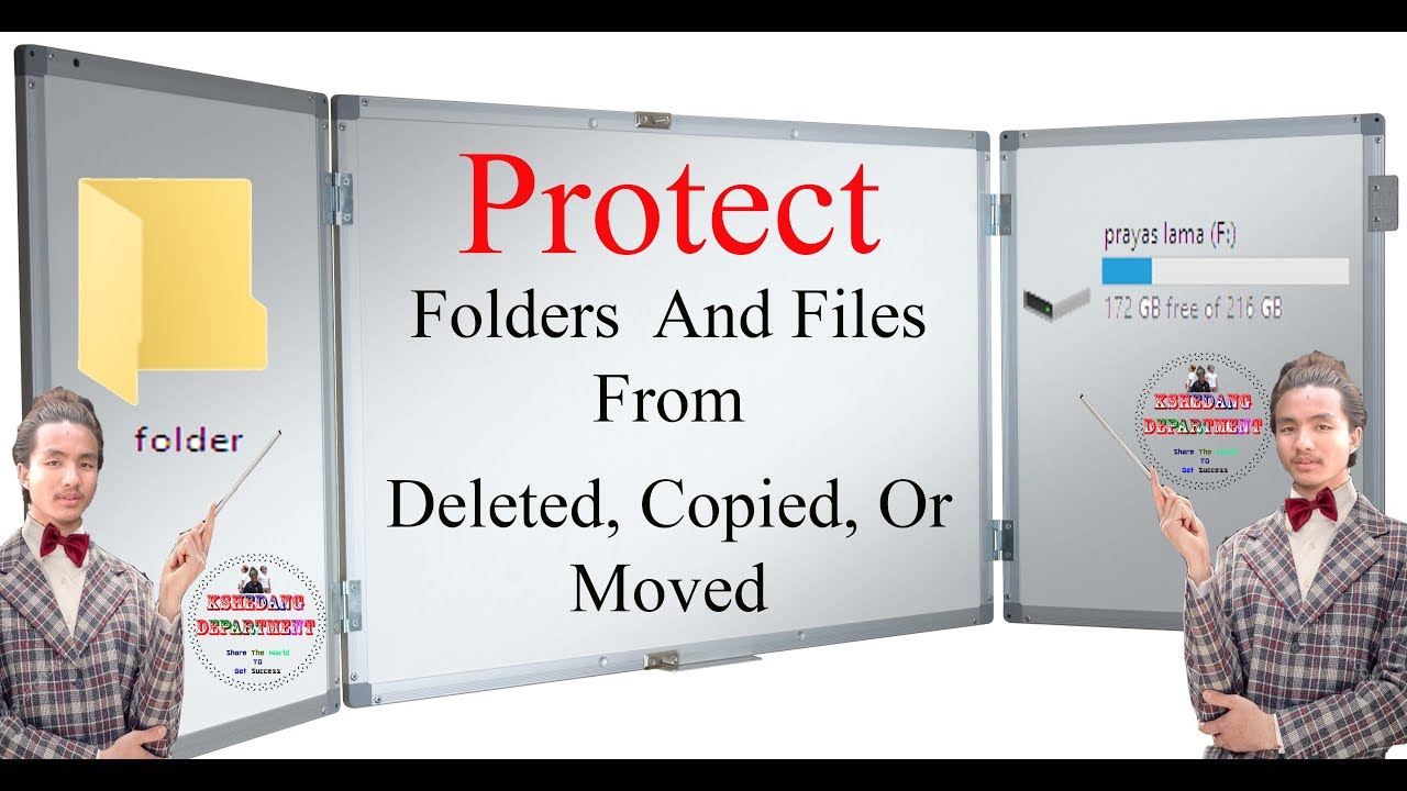 How to protect folders and files from being deleted, copied, or moved by  kshedang [Nepali]