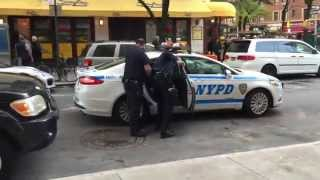 NYPD RESPONDING & ARRESTING VERY AGITATED WOMAN CAUGHT STEALING AT A CVS STORE IN MANHATTAN, NYC.