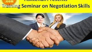Training seminar on Negotiation Skills