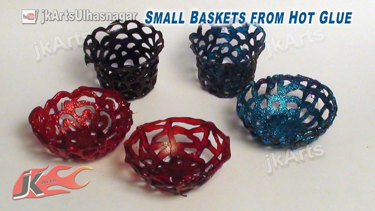 Diy Mini Baskets From Hot Glue How To Make Jk Arts 584 Youtube regarding Craft Ideas Glue Gun