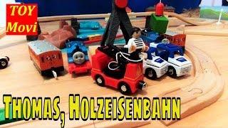 Thomas und seine freunde folgen Deutsch - Thomas Holzeisenbahn Kinderzug Spielzeug Car Toys Kran