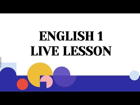 Clay Virtual Academy FLVS English 1 Module 1 Live Lesson (Anne Smoak)