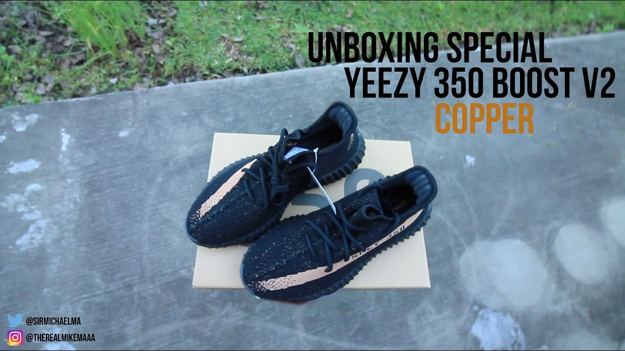f466797006e Yeezy 350 Boost V2  Copper  Unboxing - YouTube