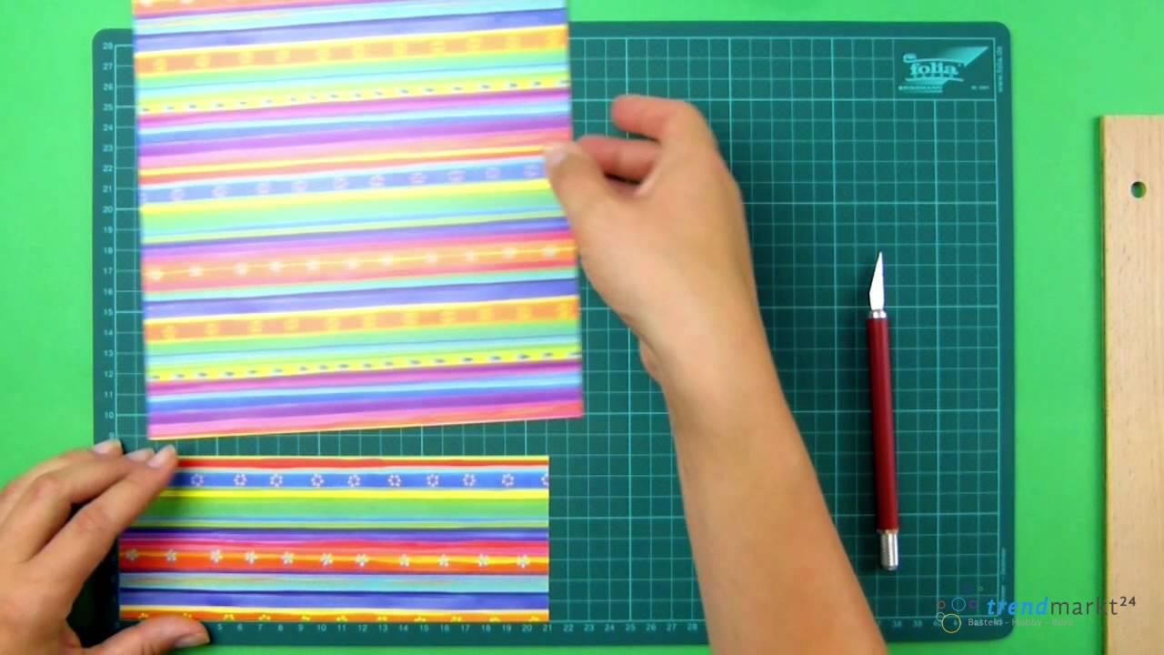 Grußkarten selbst basteln aus Papier - YouTube
