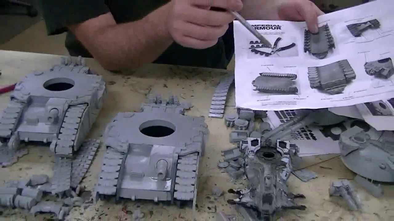 Assembly of Huge Forge World Tanks = Fell Blades- Blue Table Painting