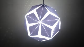 Paper Craft (Home Decoration Ideas): Beautiful 5 Petal Paper Lantern- Christmas Decor