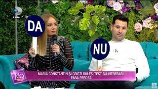 Teo Show (25.11.2020) - Maria Constantin si Cristi Dules, test cu intrebari fara perdea!