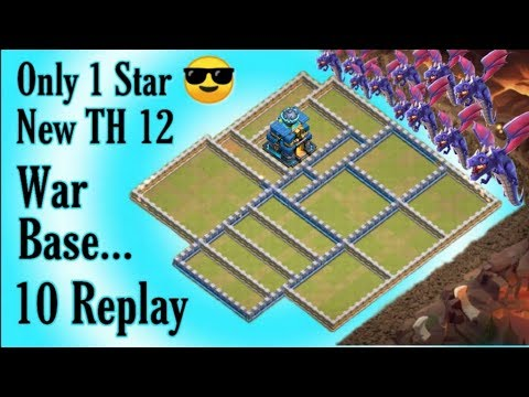 Only 1 Star | Best War Base For New Th12 + With 10 Defense Replay Proof ( 3 Star Impossible)