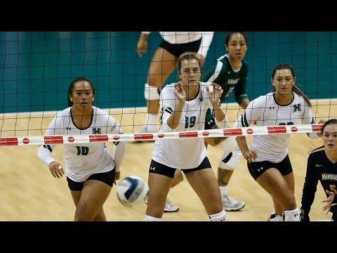 Rainbow Wahine Volleyball 2017 - #20 Hawaii Vs Marquette