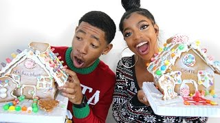 BOYFRIEND vs GIRLFRIEND GINGERBREAD HOUSE SHOWDOWN!