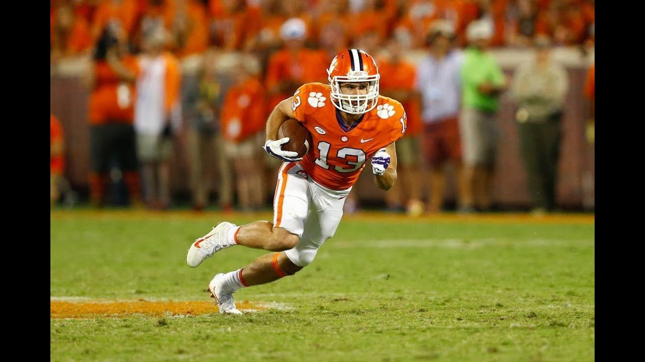 Hunter Renfrow WR#13 Clemson Tigers vs North Carolina ...