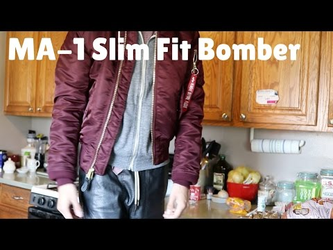 Alpha Industries MA-1 Slim Fit Jacket (Fit Review) XS