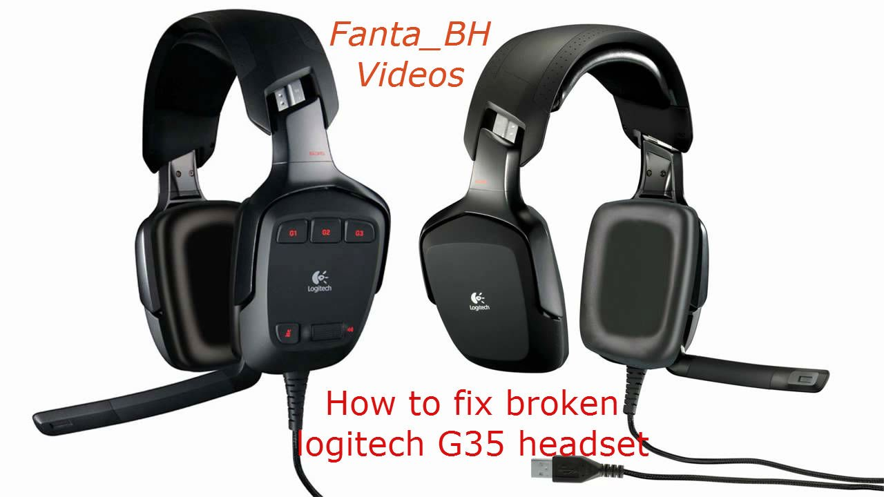 Logitech g35 HeadSet // How to repair them - YouTube