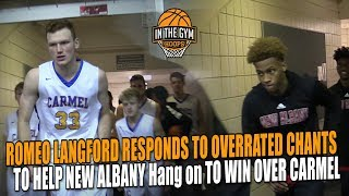 Romeo Langford Responds to Overrated Chants And Leads New Albany to Win Over Carmel and TOUGH CROWD