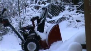 Снегоуборщик Craftsman-обзор,показ в работе
