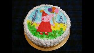 ДЕТСКИЙ торт на День Рождения ПЫШНЫЙ БИСКВИТ с НЕЖНЫМ клубничным суфле