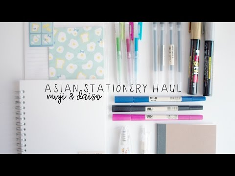 asian stationery haul | muji & daiso