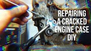 Fixing a Cracked Motorcycle Engine Case / TS185