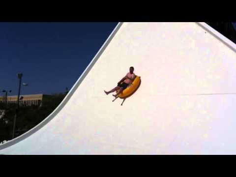 Dan Hower rides The Edge at Wet N Wild waterpark - Emerald Point