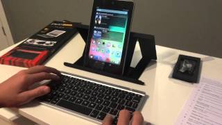 ZAGGKeys Flex First Look Review W/ Google Nexus 7 Tablet