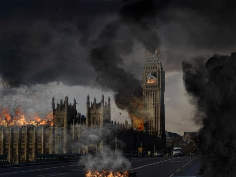 Big Ben explodes Photoshop speed art