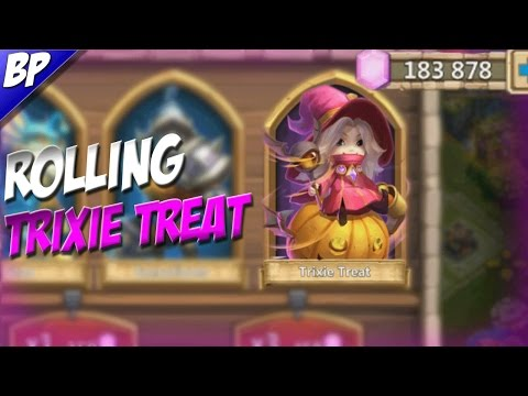 Castle Clash Rolling 183K Gems For Trixie Treat!