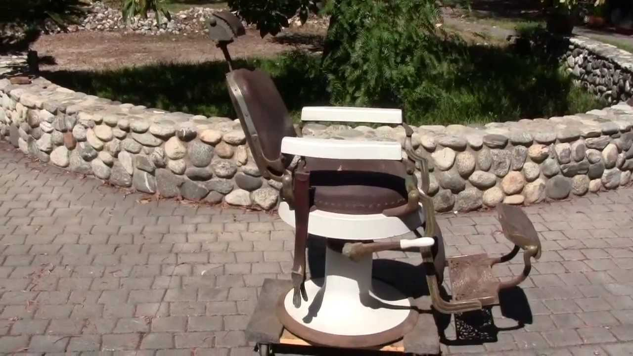 Antique Original Koken Barber Chair - Antique Original Koken Barber Chair - YouTube
