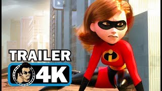 INCREDIBLES 2 Extended Trailer (4K ULTRA HD) Disney Pixar Superhero Movie | 2018