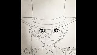 How to draw Kaito kid (Detective Conan)