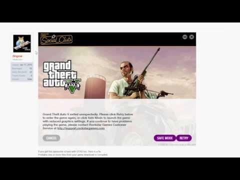 FIX Grand Theft Auto V Exited Unexpectedly Error / GTA5 Fix / Error Code: 5 Code: 7