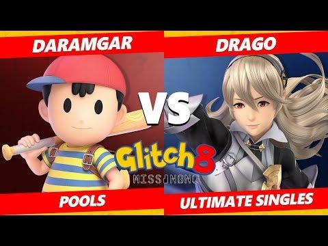 Glitch 8 SSBU - 3D | Daramgar (Ness) Vs. THB | Drago (Corrin) Smash Ultimate Tournament Pools