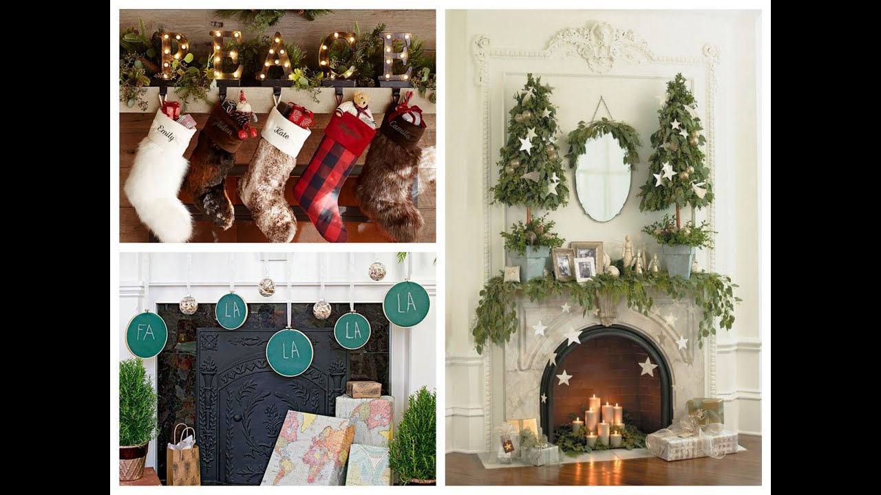 Winter decorating ideas christmas mantel ideas youtube for Xmas decoration ideas 2016