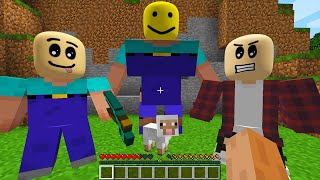 CURSED MINECRAFT BUT IT'S UNLUCKY LUCKY FUNNY MOMENTS ROBLOX