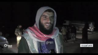 وصول عدد من مهجري الغوطة الغربية إلى قلعة المضيق