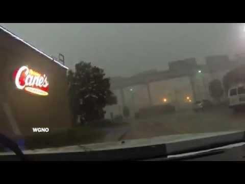 Train Blown Off New Orleans Bridge During Storm