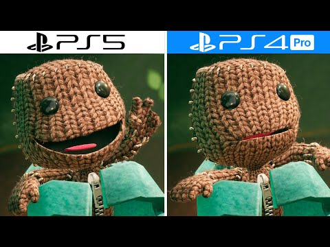 PS5 VS PS4 Pro Graphics Comparison – 4K 60 FPS – Sackboy A Big Adventure