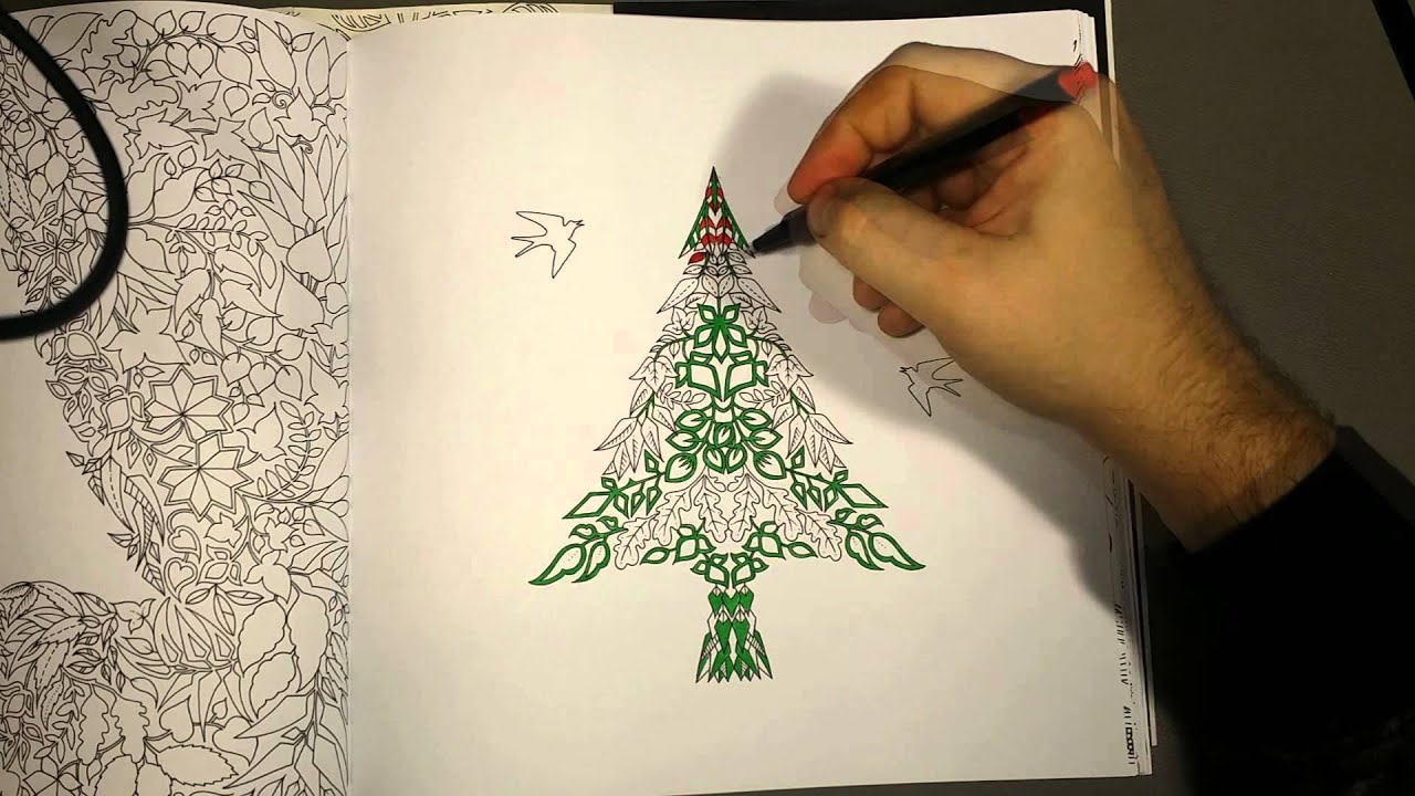 enhanced forest christmas tree three color challenge