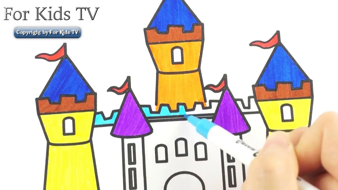 Printable Castle Coloring Pages For Kids | 720x1280
